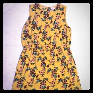 Yellow floral dress from Target